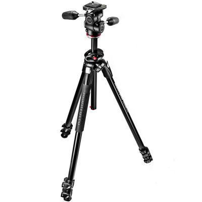 Manfrotto MK290DUA3-3W 3-Section Dual Aluminium Tripod with 3-Way Head