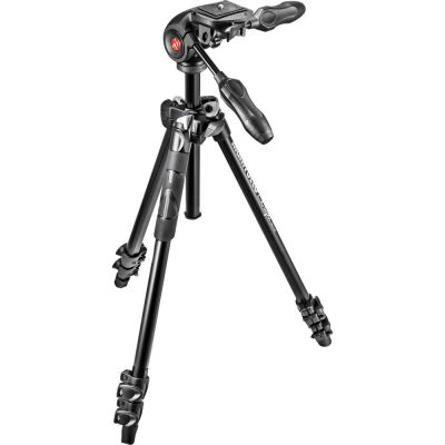 Manfrotto MK290LTA3-3W 3-Section Light Aluminium Tripod with 3-Way Head