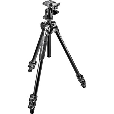 Manfrotto MK290LTA3-BH 3-Section Light Aluminium Tripod with Ball Head
