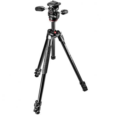 Manfrotto MK290XTA3-3W 290 Xtra Aluminium 3-Section Tripod with 3-Way Head