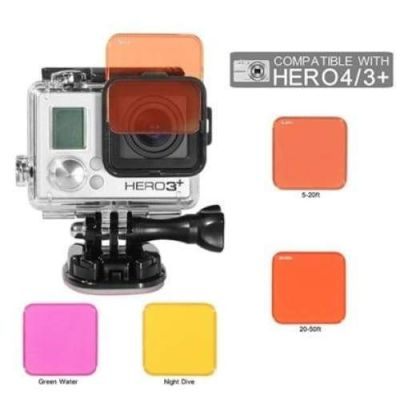 Xtreme Dive Filters for GoPro HERO 4/3+ (4 Pack)
