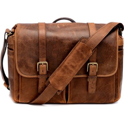 USED ONA Brixton Camera/Laptop Messenger Bag (Leather, Antique Cognac) - Rating 9/10 (S31106)