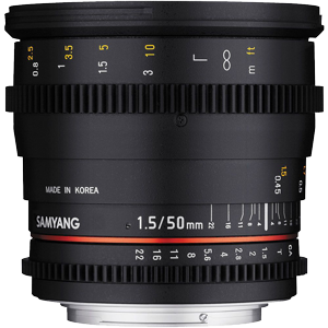 Samyang 50mm T1.5 AS UMC Cine Lens (Full Frame Sony E Mount)