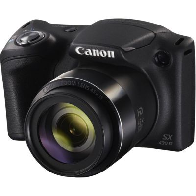 Refurbished Canon PowerShot SX430 IS Camera (Black) (CANR111)