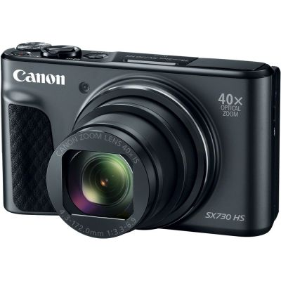 Refurbished Canon PowerShot SX730 HS Digital Camera (Black) (CANR115)