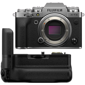 Fujifilm X-T4 Mirrorless Digital Camera with VG-XT4 Vertical Battery Grip (Silver) (R3400 Cash Back with Fujifilm)
