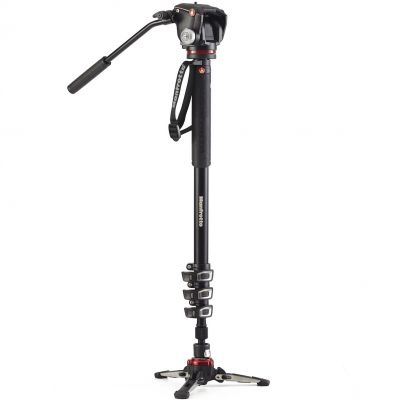 Manfrotto VMXPROA42W 4-Section Video Monopod with Fluidtech Base & 2-Way Head